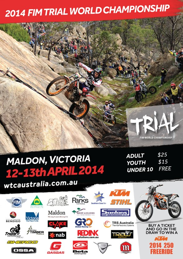 2014 FIM Trial World Championships Maldon, Victoria (Mt. Tarrengower) Australia