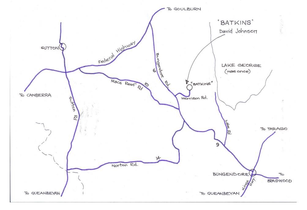 Batkins Location Map