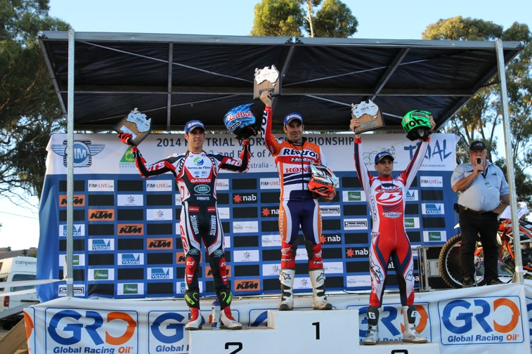 Toni Bou wins Round 2 of Trial World Championship in Maldon, Australia
