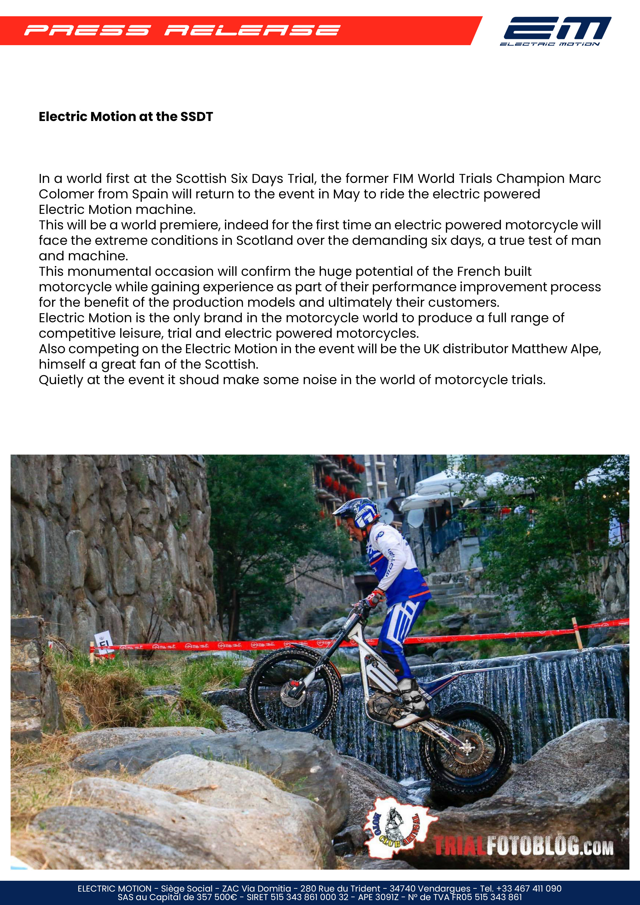 Electric Motion 2020 Scottish 6 Day Trial