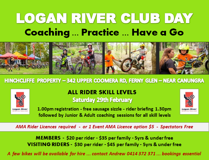 Logan River - COACHING / PRACTICE / HAVE A GO